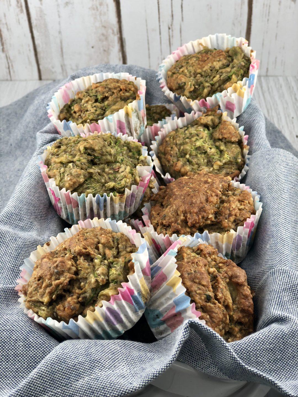 IBS Breakfast recipes - Zucchini Banana Bread Muffins