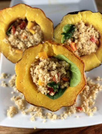 Stuffed Acorn Squash - low FODMAP foods