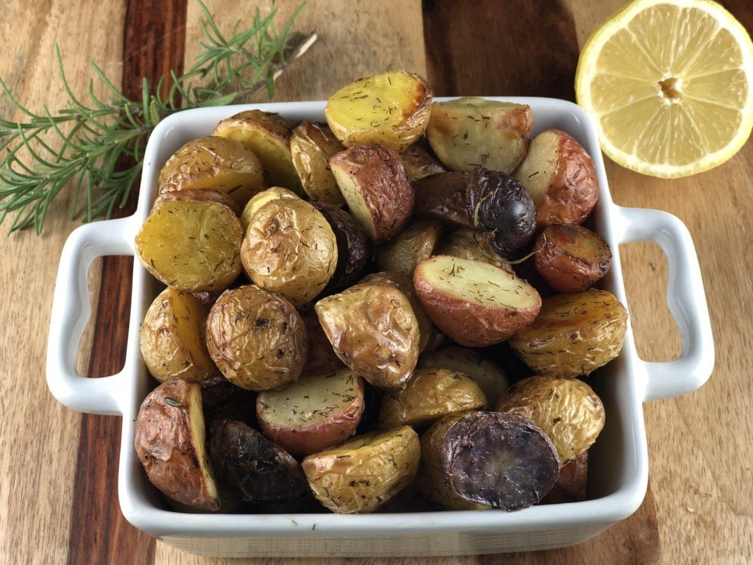 Lemon Roasted Potatoes - IBS friendly recipes