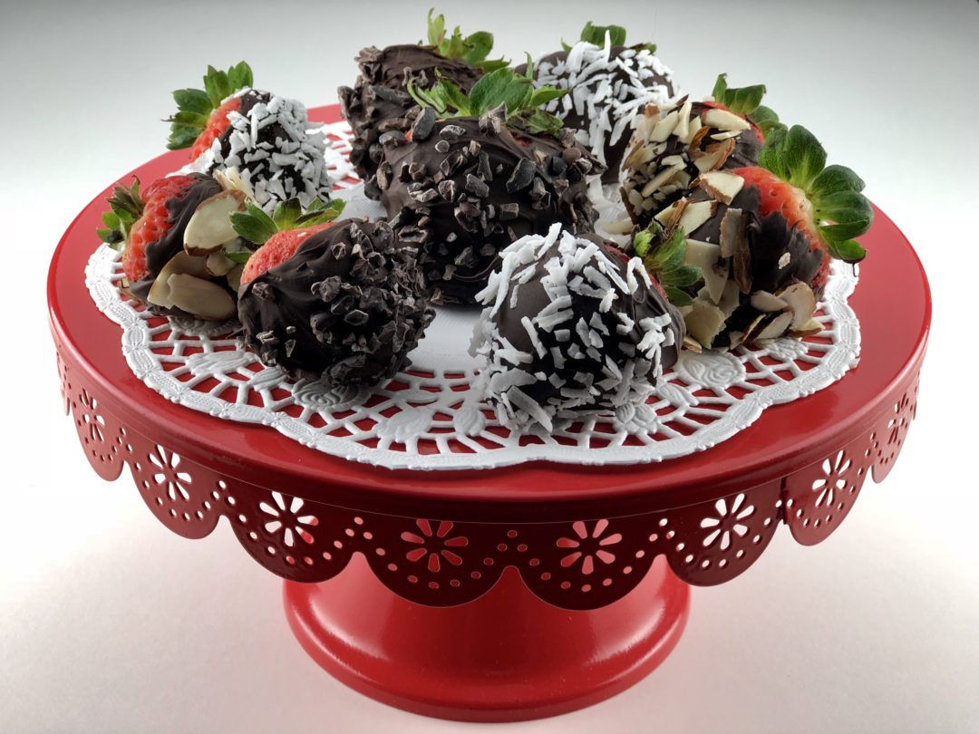 low FODMAP foods - Chocolate covered strawberries
