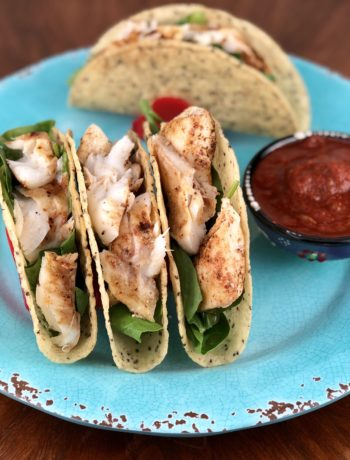 low FODMAP foods - Fish Tacos