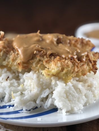 chicken IBS recipe - Baked Coconut Chicken Breast over Jasmine Rice