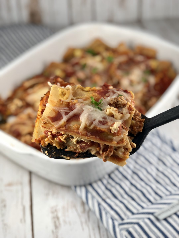 low FODMAP dinner - Gluten and Dairy-Free Lasagna