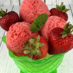 FODMAP diet desserts - strawberry sorbet