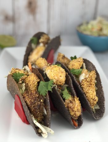 IBS diet plans - Cornmeal crusted fish tacos with coleslaw