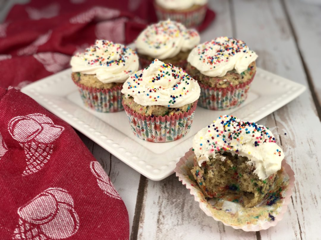 FODMAP diet desserts Funfetti Cupcakes