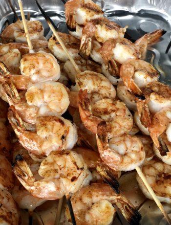 low FODMAP foods - shrimp 2 ways