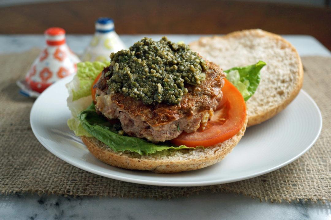IBS diet plan pesto turkey burger