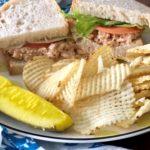 FODMAP light bite recipes - salmon sandwich