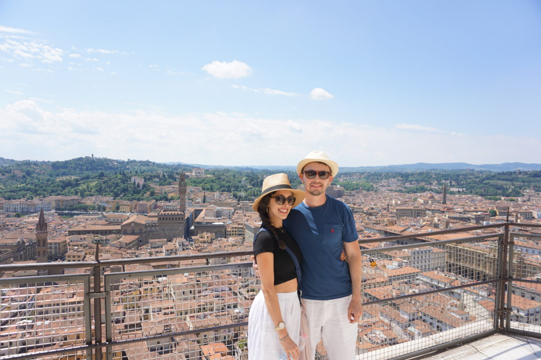 Eugene and I enjoying the GORGEOUS view at the top of the Duomo