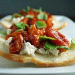 low FODMAP diet - Roasted Tomato & Ricotta Bruschetta