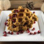breakfast FODMAP diet - Pumpkin Waffles