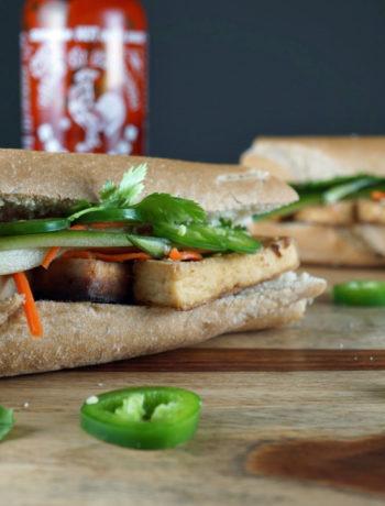 Tofu Banh Mi - vegetarian low fodmap