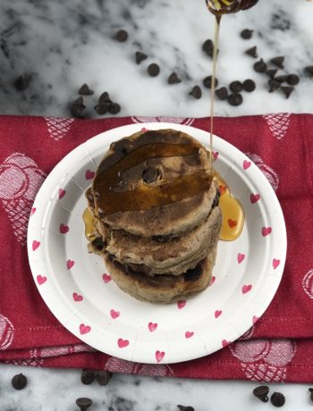 FODMAP breakfast - Buckwheat chocolate chip pancakes