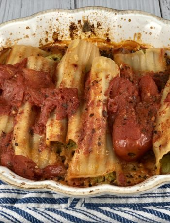 Spinach & Cheese Manicotti - FODMAP safe dinner