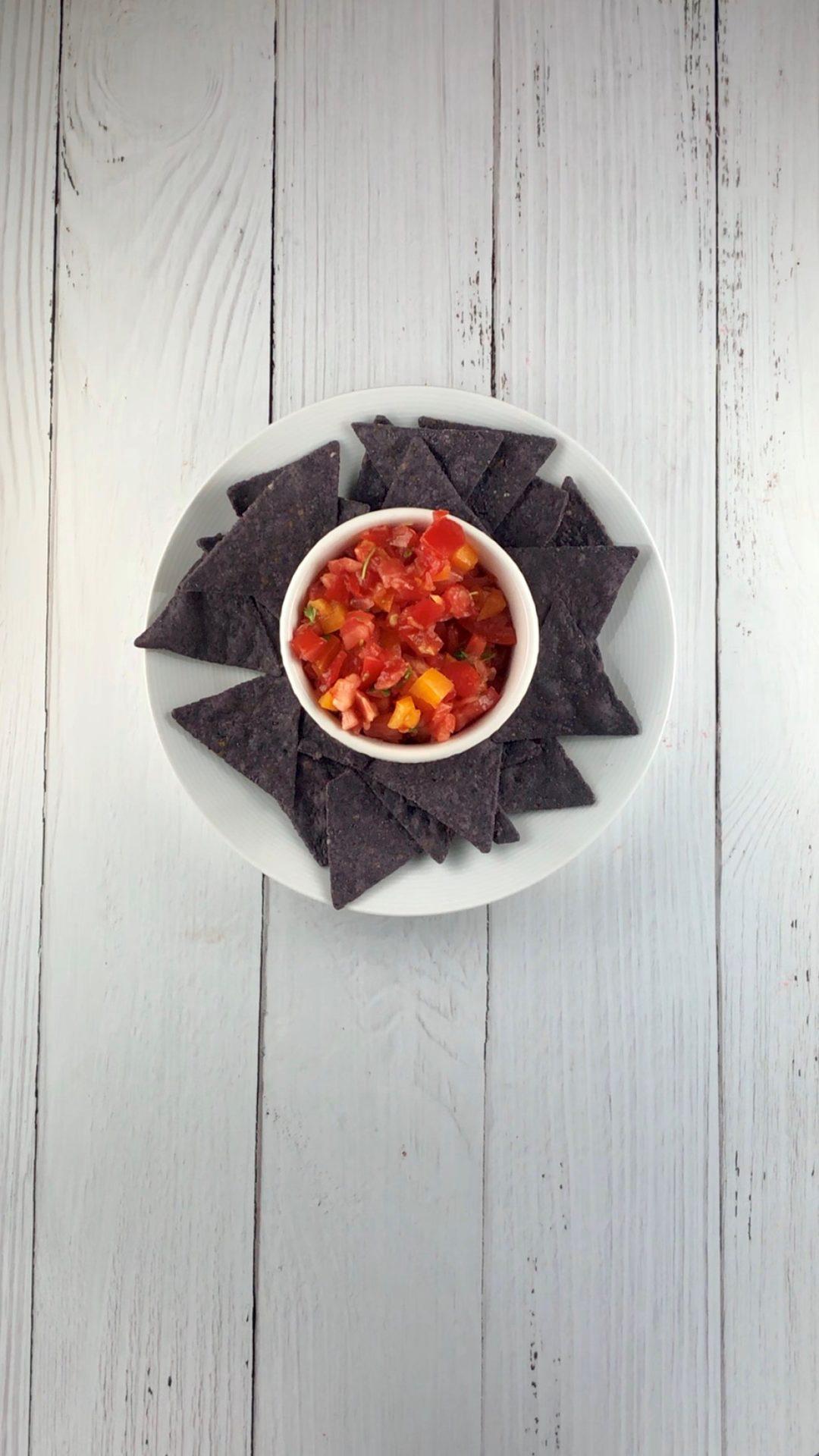 low fodmap snacks - salsa