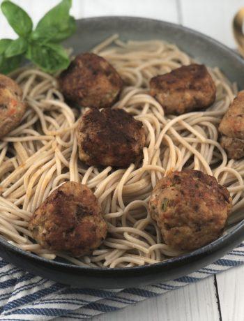 FODMAP dinner recipes - Turkey meatballs and spaghetti