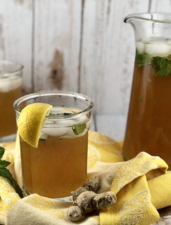 FODMAP beverage - Mint & Ginger Lemonade