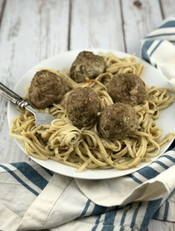 fodmap dinner recipes - Pesto turkey meatballs with pasta