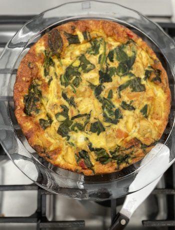 Vegetable frittata - FODMAP breakfast recipes