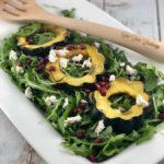 FODMAP Salad - roasted squash & arugula salad