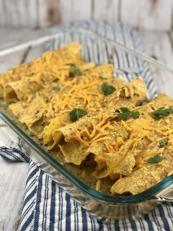 FODMAP chicken recipes - Chicken Enchiladas
