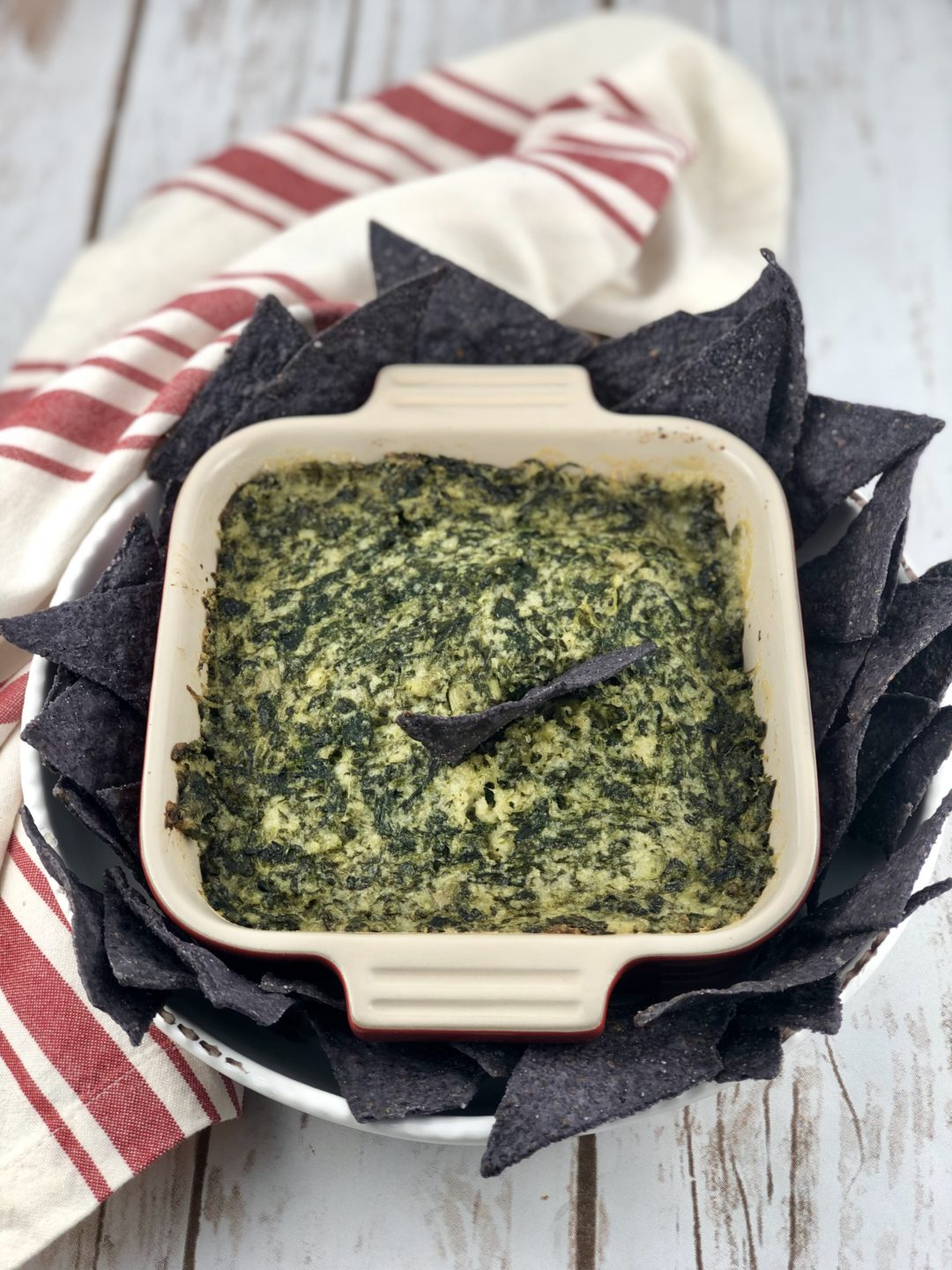 FODMAP appetizers - Dairy- Free Spinach Dip