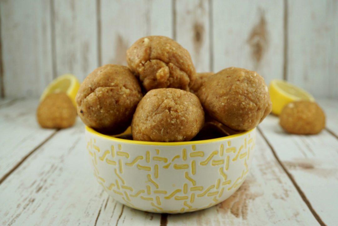 FODMAP snack recipes - Lemon Energy Balls