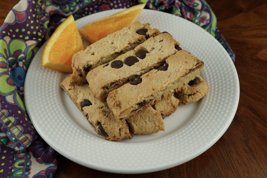 FODMAP safe Passover recipes - Passover Safe Chocolate & Orange Mandel Bread