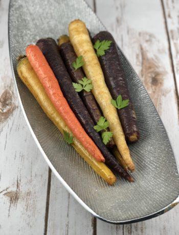 FODMAP safe vegetable - Tri-Color Roasted Carrots