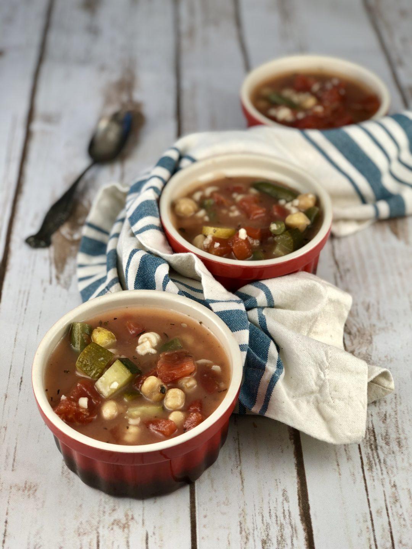 FODMAP safe recipes - Grandpa's Minestrone Soup