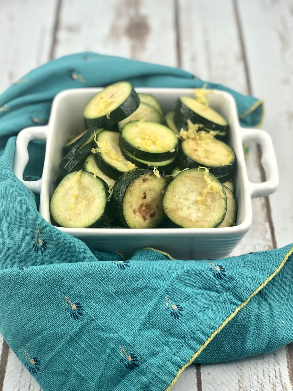FODMAP side dish - sautéed zucchini