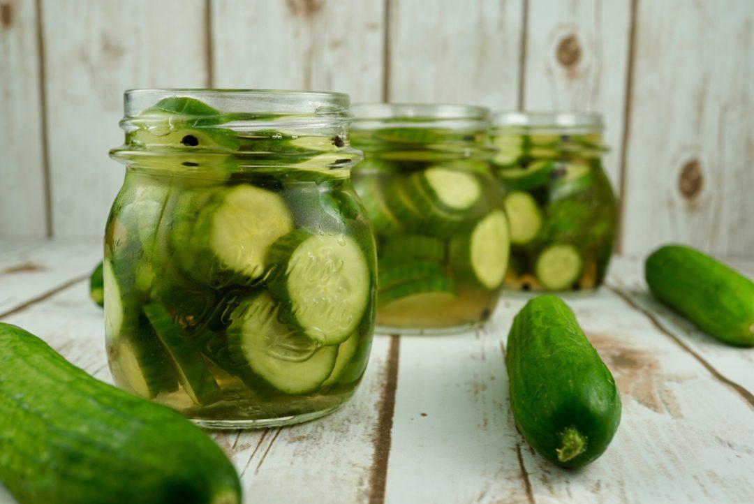 FODMAP safe vegetables - Pickled Cucumbers