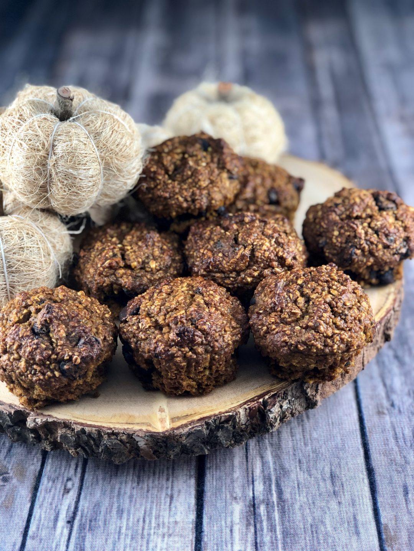 FODMAP safe muffin recipes - Chocolate Chip Pumpkin Muffins