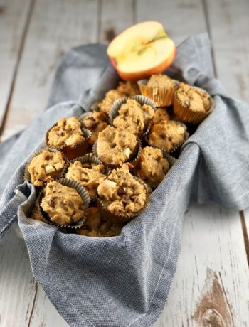 low FODMAP diet snack - Cinnamon apple cornbread muffins