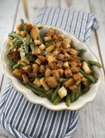 FODMAP safe side dish - Green Bean Casserole