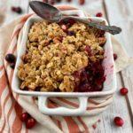 low FODMAP dessert - cranberry orange crisp