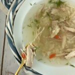 low FODMAP soup - Baba's chicken soup