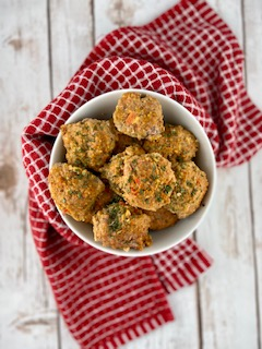 FODMAP safe dinner - hidden vegetable meatballs