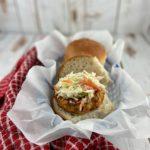 Air Fryer Chicken Burger - FODMAP safe burger