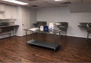HPS Kitchen where placenta encapsulation happens.