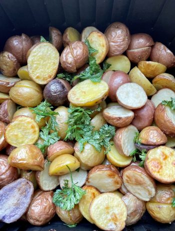 Air fryer potatoes make for a low FODMAP side
